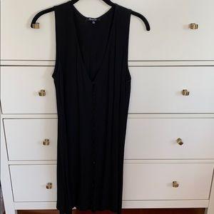 Madewell black dress w buttons